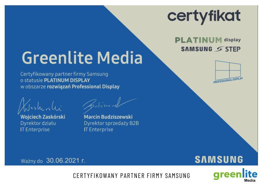 Greenlite platynowym partnerem Samsunga